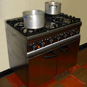 Large Catering Oven with Six Gas Burners